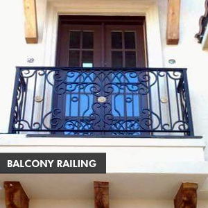 Custom Iron Doors & Balcony Railing