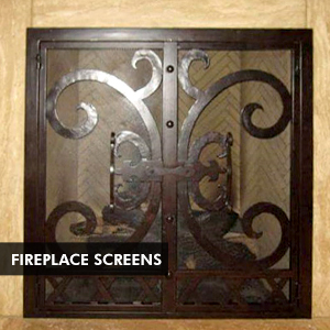 Custom Iron Doors & Fireplace Screens