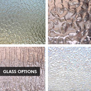 Custom Iron Door Glass Options