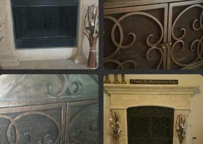 Ornamental Fireplace Screen 514