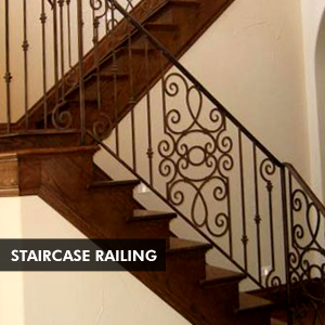 Custom Iron Staircase Railing